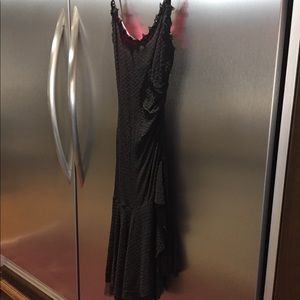 Betsey Johnson black stretch gown Size Small, NWT